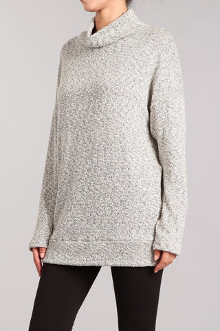 Chatoyant Peppered Lurex Knit Top