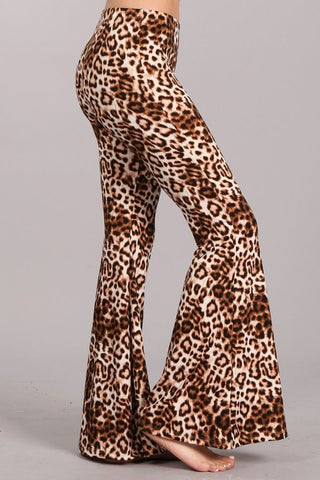 Chatoyant Leopard Print Bell Bottoms Fall 2020