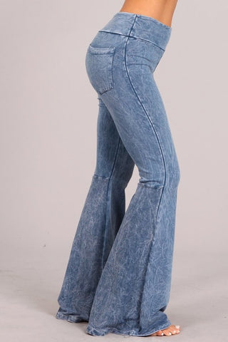 Mineral Wash French Terry Pants Light Denim