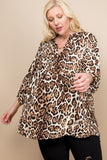 Emerald Collection Plus Size Animal Print Tunic
