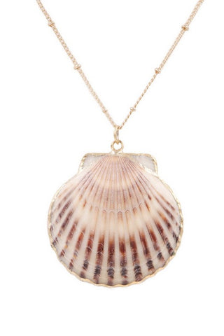 Fabulous Shell Necklace and Earring Set