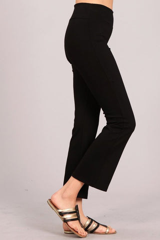 Chatoyant Versatile Cropped Pants Black