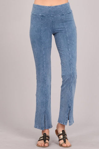 Chatoyant Mineral Wash Straight Fit Pants Light Denim