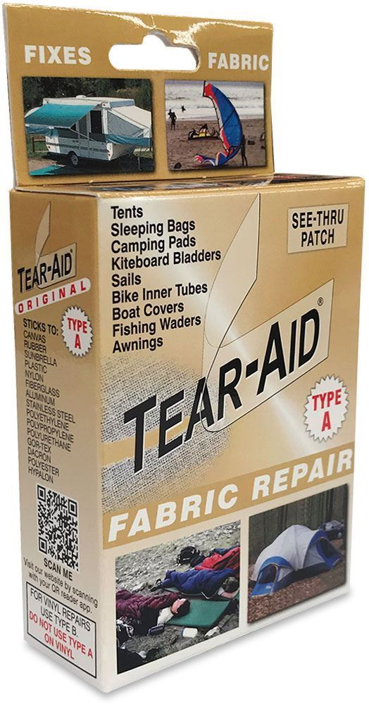 Tear Aid Fabric Type A Gold (TAO) Repair Kit