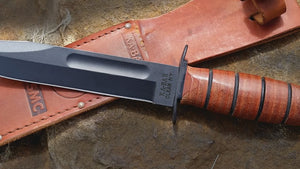 Ka-Bar USMC Knife Utility Leather Handled