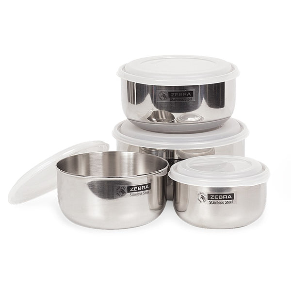 Zebra Stainless Steel Food Storage 4pc set