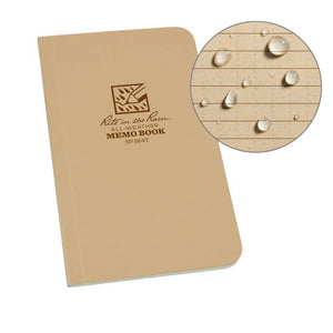 Rite in the Rain - Bound Soft Cover 3.125 x 6 Field Flex Book - Universal - Tan