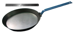Hillbilly Frypan - 310mm with Folding Handle Heavy Base (Blue Handle)