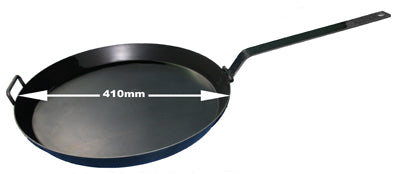 Hillbilly Frypan - 410mm with Folding Handle Single Loop