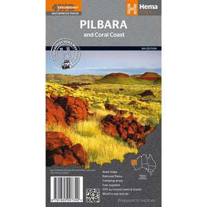 Hema Pilbara & Coral Coast Map
