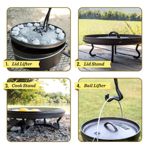 Lodge Cookware 4 In 1 Camp Dutch Oven Tool
