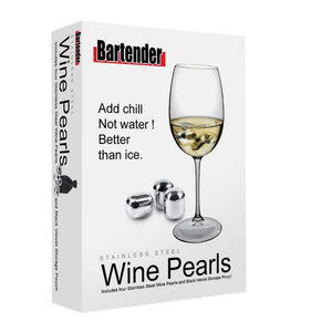 Bartender Stainless Steel Wine Glass Pearls
