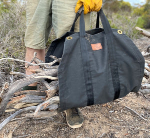 Red Roads Canvas - Tarp Firewood Carrier - Made in Australia