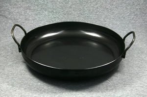 Hillbilly Frypan - 330mm with Loop Handles (Rounded Sides)