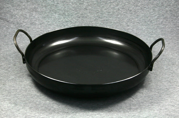 Hillbilly Frypan - 230mm with Loop Handles (Rounded Sides)