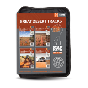 Hema Great Desert Tracks Map Pack