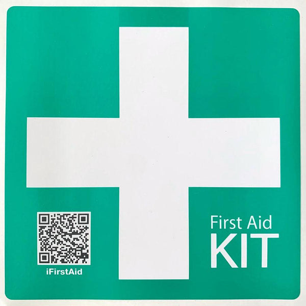 Survival Compliant Vehicle First Aid Sticker - Green Cross