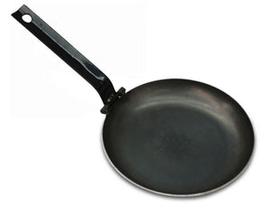 Hillbilly Frypan - 290mm with Folding Handle (Rounded Sides)