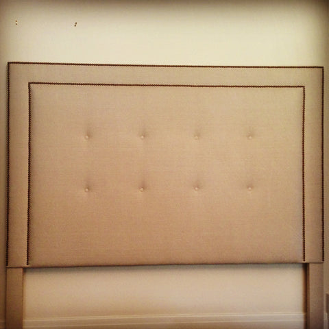 tufted and nailhead trim headboard 2