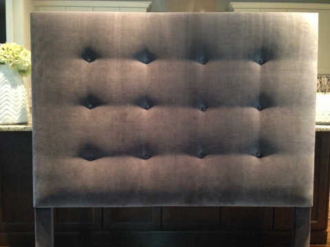 espresso tufted headboard