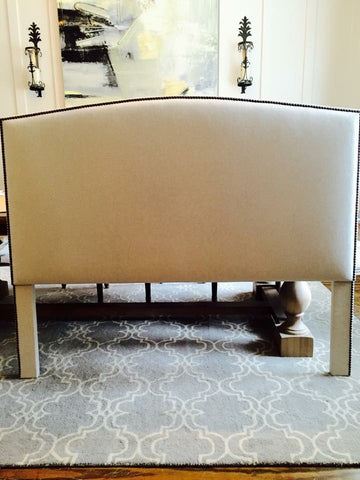 humped shaped headboard with nailhead