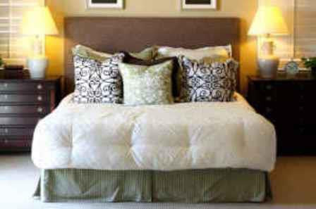 queen upholstered headboard image