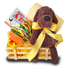 Brown dog Gift Basket