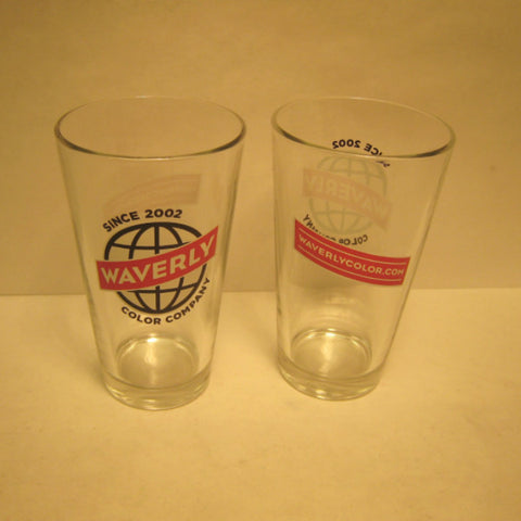 Waverly Across the World Pint Glass