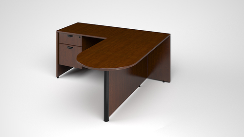 Sales Center Bullet Desk with Return