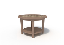 Malibu Plot Table in Park Elm Laminate Finish