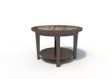 Malibu Plot Table in Skyline Walnut Laminate Finish
