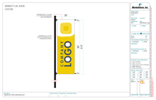 Custom Copy Banner Flag 30 x 96 #870ACA_by_MarketlineOnline.com
