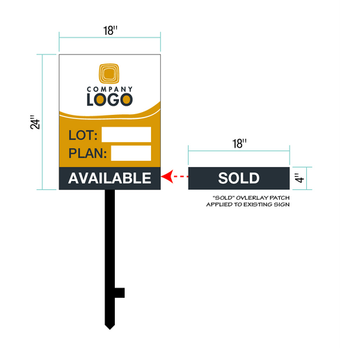 Custom Lot Identification Signs