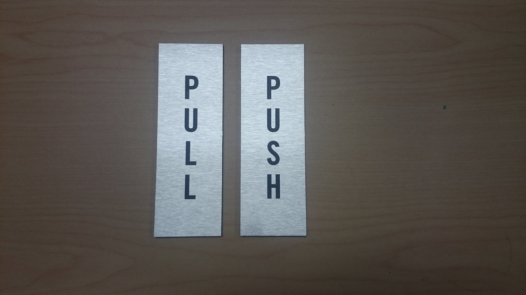 PUSH/PULL Plaque Set for Doors