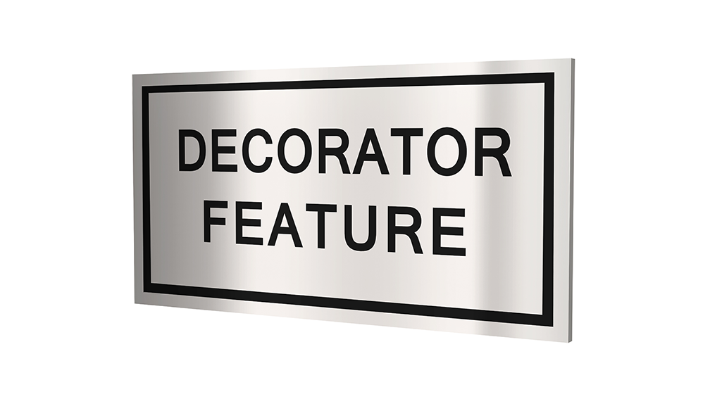 Stock Decorator Feature Plaques-PKG of 12, 50