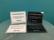 """Attention Brokers/Agents"" Plaque for Sales Centers"