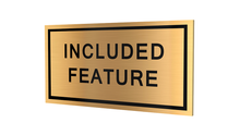 Stock Included Feature Plaques-PKG of 12, 50