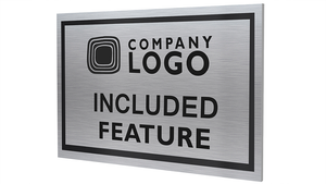 Custom Included Feature Plaques-PKG of 12, 50