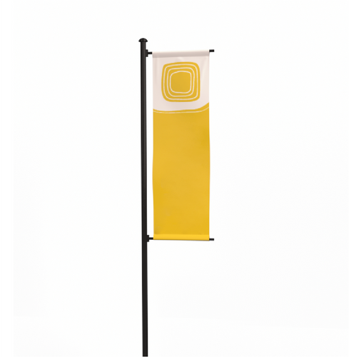 Model Complex - 20' Single-Arm Banner Flag Pole