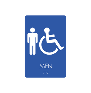 Restroom Signs - Men/Handicapped