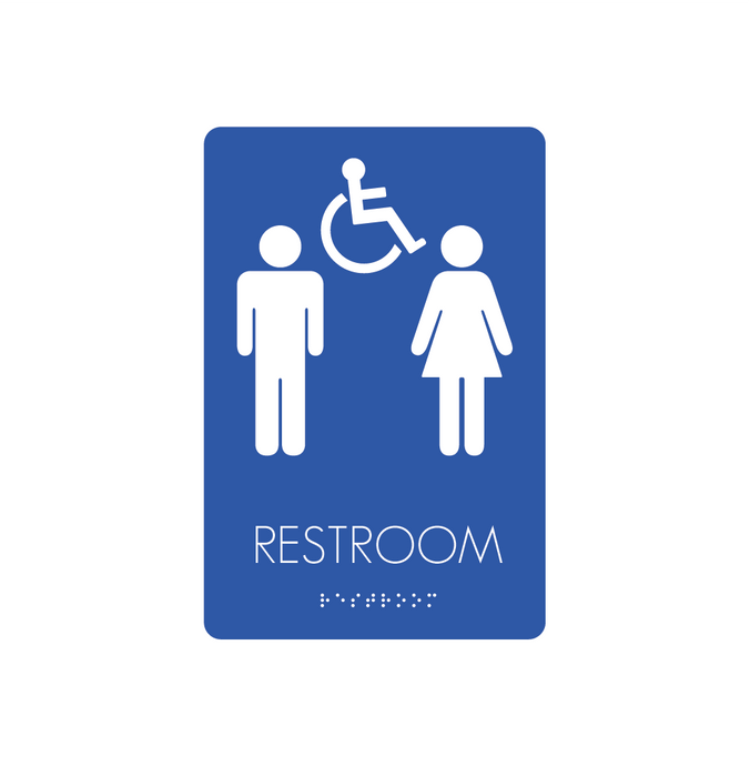 Restroom Signs - Unisex/Handicapped