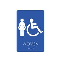Restroom Signs - Women/Handicapped