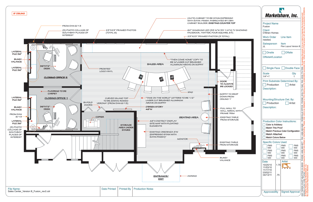Sales Office Layout