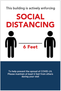 COVID Social Distancing Signs