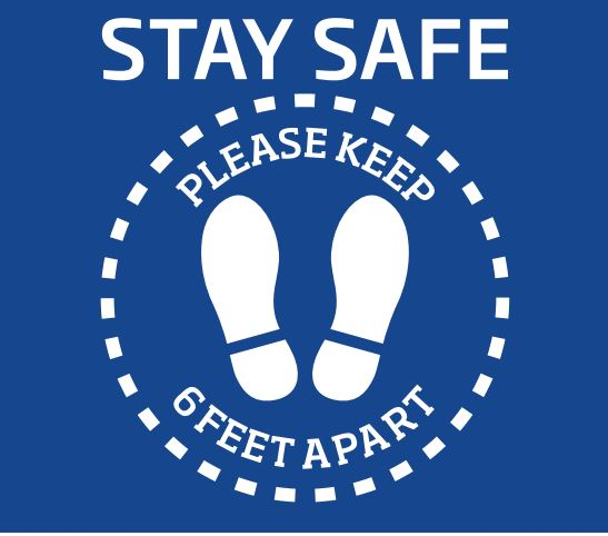 COVID Stay Safe Floor Decals