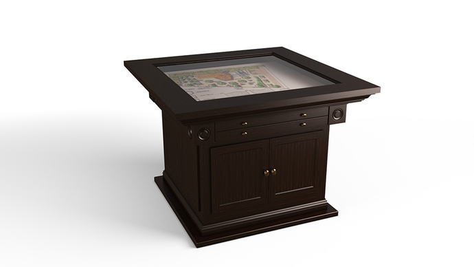 Stratford Series - Closed Base Plot Table with Drawers