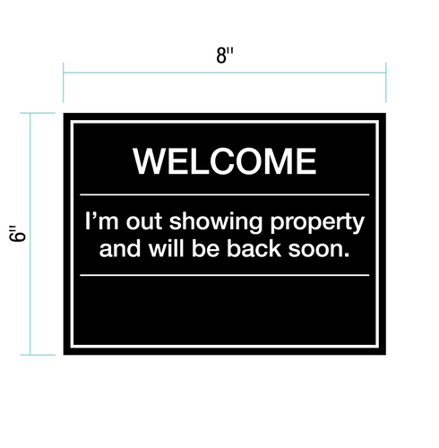 Welcome Plaque for Sales Centers