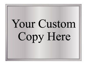Custom Copy Information Plaques
