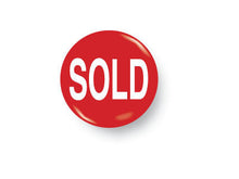 Red SOLD Metal Button 5/8""
