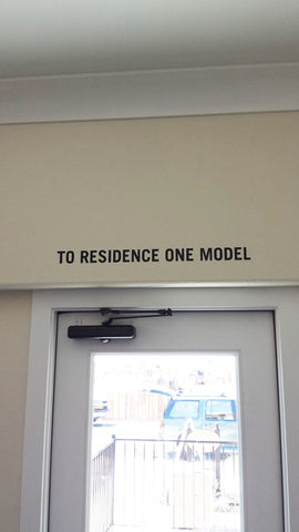To Residence Decal